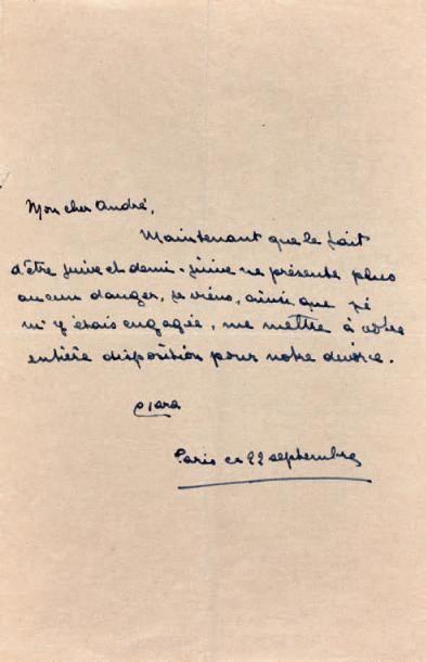 MALRAUX Clara Goldschmidt, Mme André