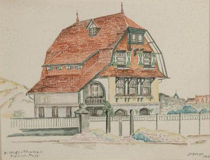 Léopold SURVAGE (1879-1968) Villa « La Flamme...
