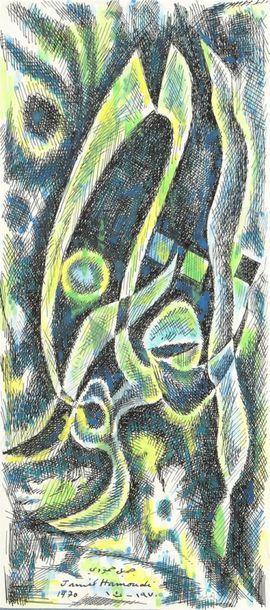 Jamil HAMOUDI (1924-2003) Sans titre Encre...