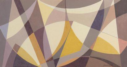 Jacques DOUCHEZ (1921-2012) Composition abstraite...