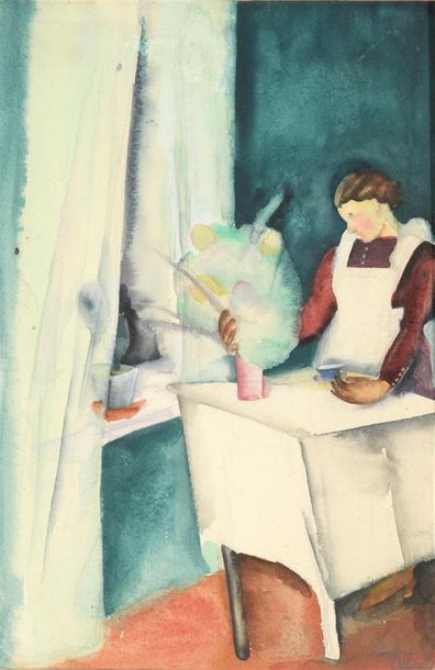 Lydia MANDEL (vers 1900-1978) Femme dans...