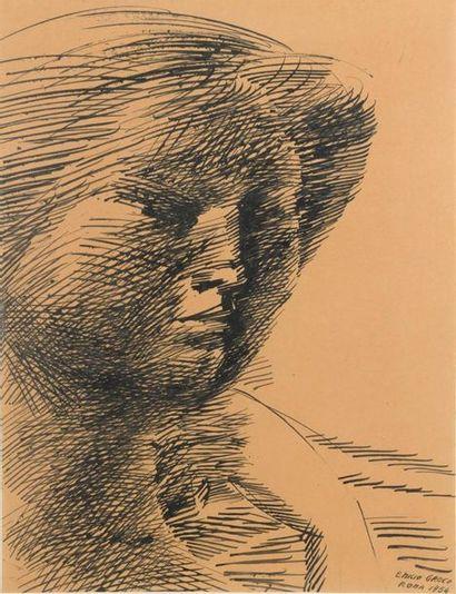 Emilio GRECO (1913-1995) Buste de femme Encre....