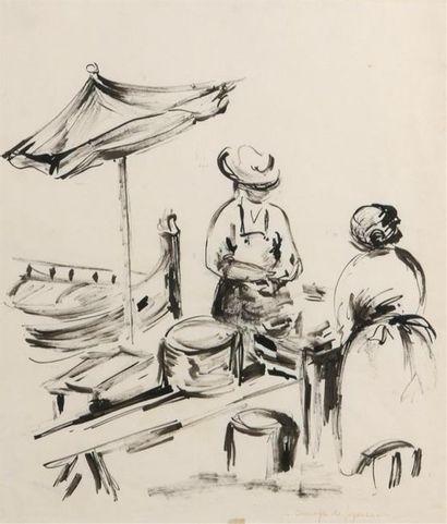 André DUNOYER DE SEGONZAC (1884-1974) Le...