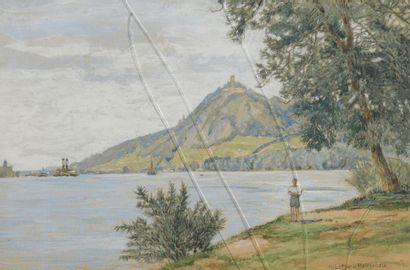 Heinrich LOTTER (1875-1941) Paysages de lac,...