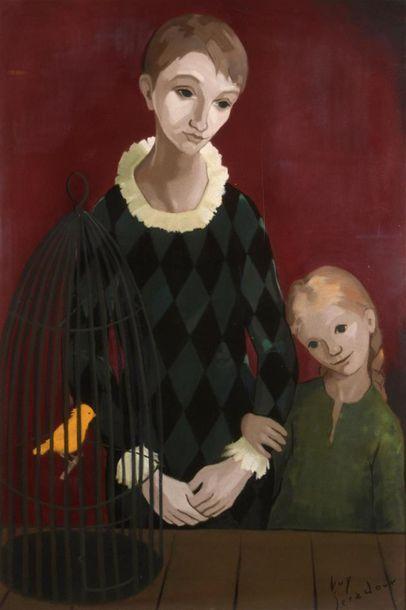 Guy SÉRADOUR (1922-2007) Mère et sa fille...