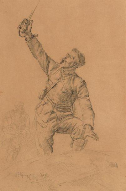 Henri George CHARTIER (1859-1924) A l'assaut...