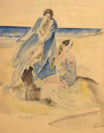 Harry BLOOMFIELD (1883-1941) Les Baigneuses...