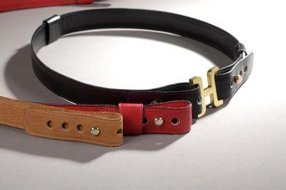 Hermès. Boucle de ceinture en métal doré...