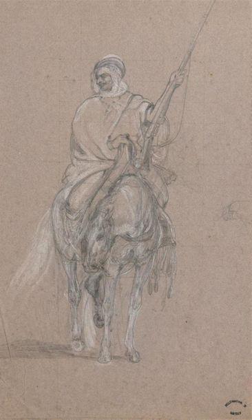 Georges WASHINGTON (1827-1910) Guerrier à...