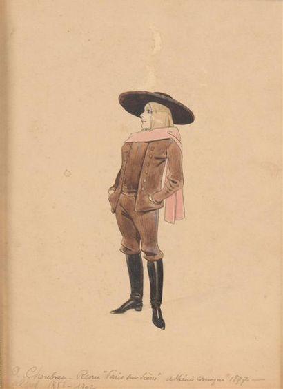 Alfred CHOUBRAC (1853-1902) Jeune actrice...