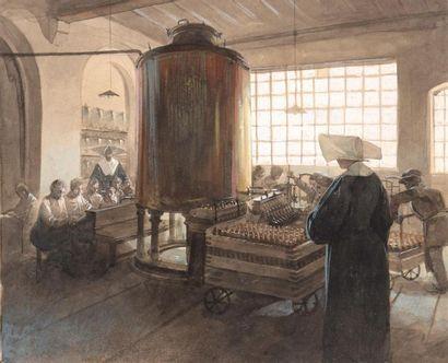 Alfons Mucha (1860-1939) Vue d'une salle...