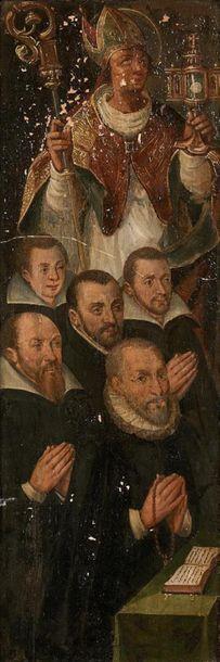École Flamande, vers 1620 Panneau de donateurs...