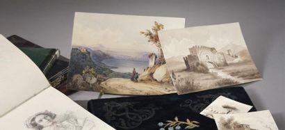 Album manuscrit d'un voyage en Alsace de...