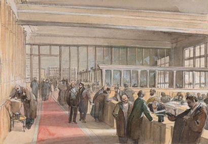 Alfons Mucha (1860-1939) Vue de la salle...