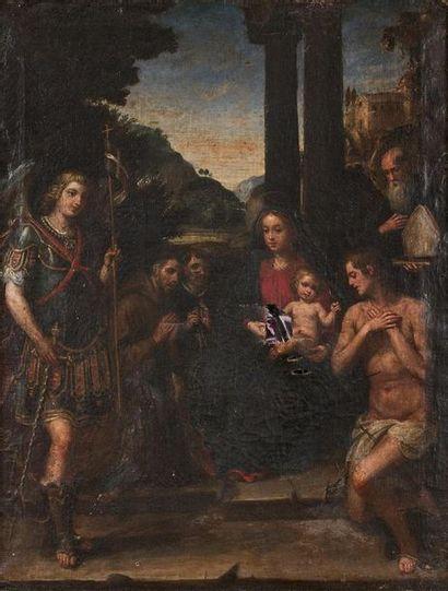 École ITALIENNE du XVII e siècle La Vierge...