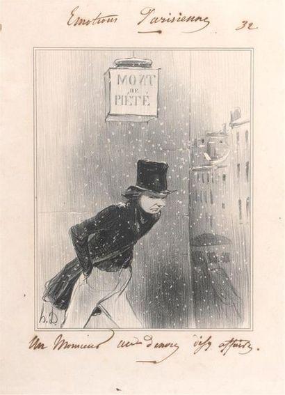 D'après Daumier Émotions parisiennes : un...