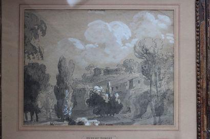 École française du XIXe siècle Paysage avec...