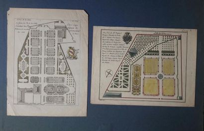 Boucher Plan du château et du parc de Fontainebleau...