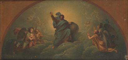 École francaise vers 1840 Dieu le Père entouré...
