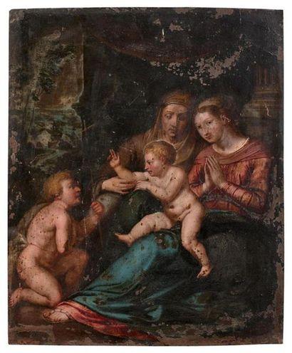 École flamande du XVIIe siècle, d'après Raphaël...