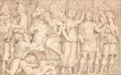 École italienne du XVIIIe siècle Scène antique...