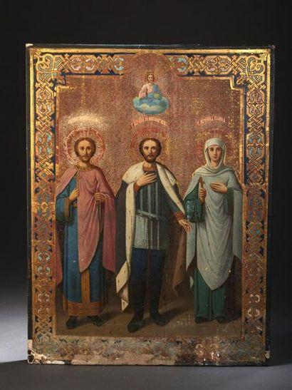 Icône, Russie, fin du XIXe siècle Saint prince-martyr...