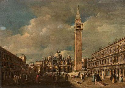 Attribué à Giacomo GUARDI (1764-1835) Venise,...