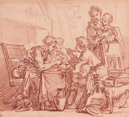 François BOUCHER (Paris 1703-1770) Le Dîner...