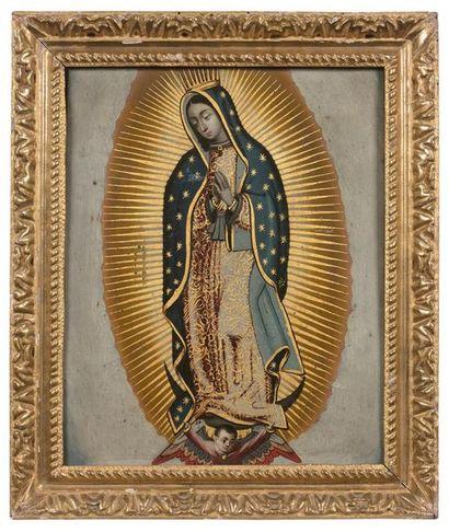 École mexicaine, vers 1800 Vierge de Guadalupe...