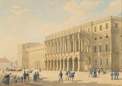 Johann Baptist KUHN (1810-1861) Promenade...
