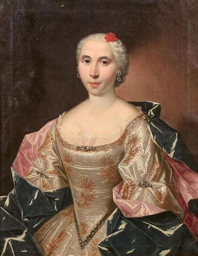 École française vers 1720 Portrait dit de...