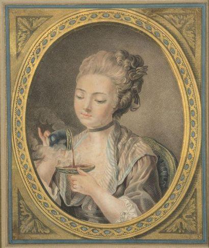 D'après Janinet , XVIIIe siècle Le café et...
