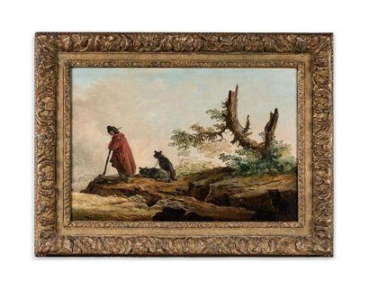 Hubert ROBERT (Paris 1733-1808) Berger et...