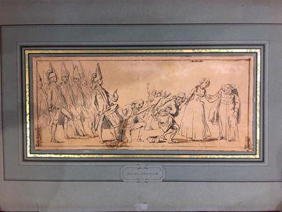 École anglaise du XIXe siècle Caricature...
