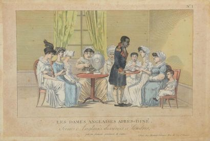 D'après Martinet , vers 1800 Scènes humoristiques...