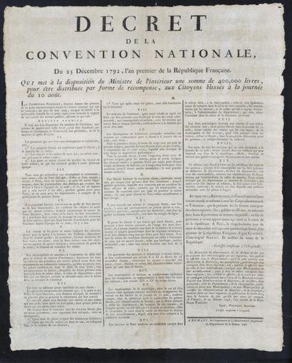 Décret de la Convention nationale Affiche...