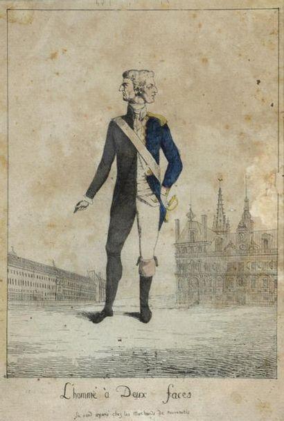 École française vers 1791 L'homme à deux...