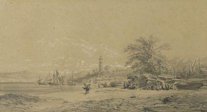 Auguste Borget (1808-1877) Paysages d'Extrême-Orient...