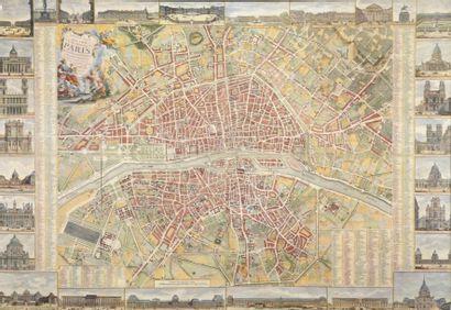 Carte de Paris, 1789 Reproduction. Daté 1789...