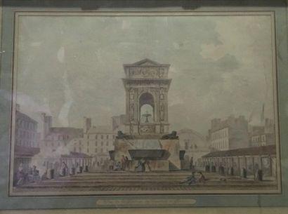École française, fin XVIII e siècle Vue de...