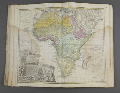 Ensemble de vingt cartes du monde et de l'Europe,...