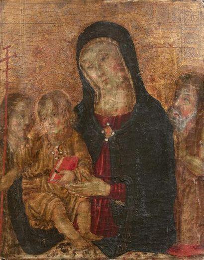 École OMBRIENNE vers 1480 Vierge à l'Enfant...