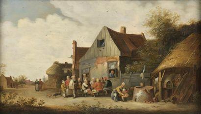Attribué à Cornelis MAHU (1613-1689) Famille...