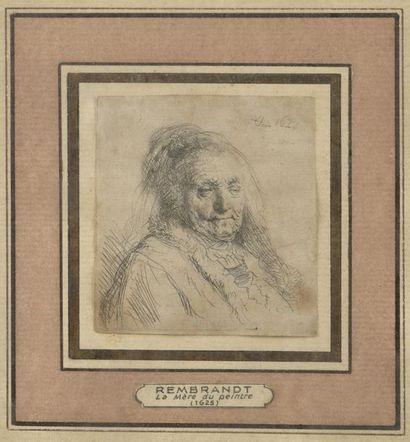 REMBRANDT (1606-1669) La Mère de l'artiste,...