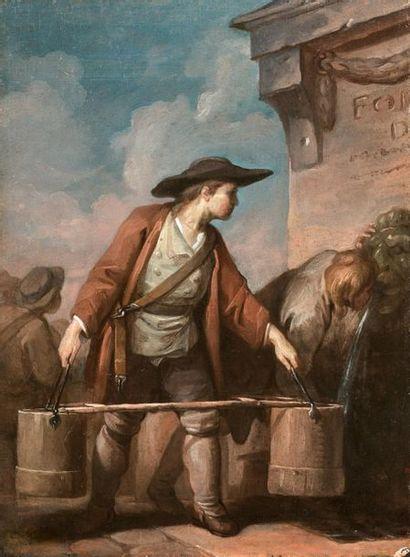 Charles MONNET (1732 - après 1808) Le porteur...