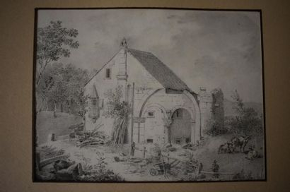 École Française du XIXe siècle Ruines de...