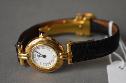 Cartier, montre en vermeil Mouvement à quartz....