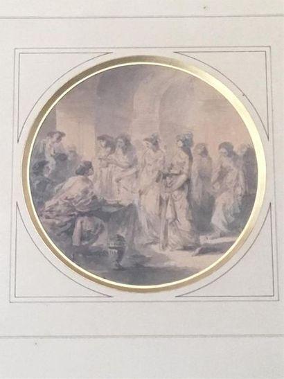 Attribué à Jacques Gamelin (1738-1803) Les...