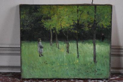 Ernest QUOST (1844-1931) Jeune fille dans...