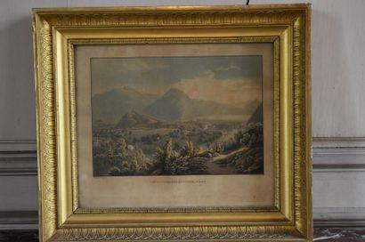 École Suisse vers 1800 Vue de Lugano et Vue...